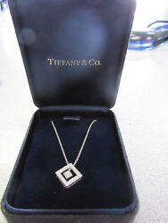 Authentic And Company Platinum Moving Diamond Pendant And Necklace