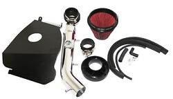 For 99-02 4runner 99-04 Tacoma 3.4l V6 3 Red Cold Air Intake Kit+heat Shield
