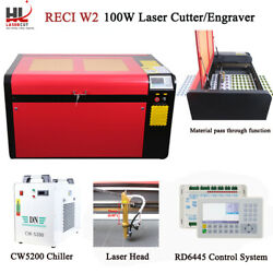 Reci 100w Co2 Laser Engraving Cutting Machine/engraver And Auto Focus 390mm Lift