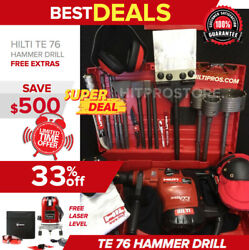 Hilti Te 76 Hammer Drill, Preowned, Free Laser Level, Bits, Extras, Quick Ship