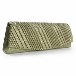 Evening Clutch Bag with Glitter and Stripes Wedding Dance Many Colours