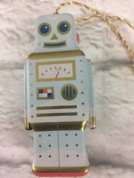 Fossil Limited Edition Rare Tin Robot Ornament Holiday Collectible Christmas