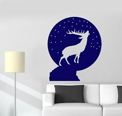 Vinyl Wall Decal Christmas Snow Ball Deer Silhouette Stickers 2133ig