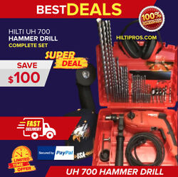 Hilti Uh 700 Hammer Drill, New, In Original Case, Free Grinder, Extras,fast Ship