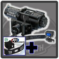 2500 Lb Kfi Stealth Winch, Mount And Grill Combo- Polaris Sportsman Ace 2014-2015