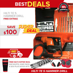 Hilti Te 5 Hammer Drill W/ Drs Vacuum 230 Volts,made In Germany, Fast Ship