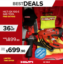 Hilti Gx 100 E Gas Tool Brand New Free Grinder And Extras Durablefast Shipping