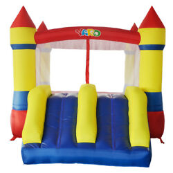 Yard Residential Bounce House Inflatable Bouncer Slide With Blower Kid Toy Fun