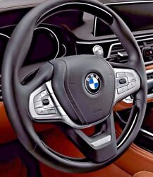 Bmw G11 G12 G30 5 7 Series Piano Black Wood And Leather Steering Wheel Individual