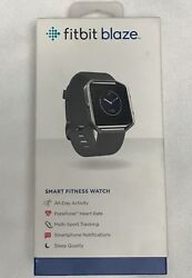 Fitbit Blaze Smart Fitness Watch Size Small Stainless Steel Frame Black Band
