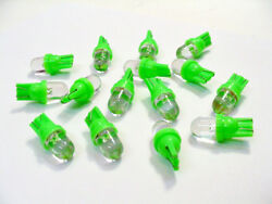 15 Cool Green Leds Instrument Panel Dashboard Lights Bulbs Dome For Imports