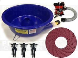 Blue Bowl Pan Gold Prospecting Concentrator + How To Dvd + Pump + Leveler Kit