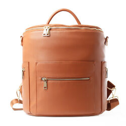 Faux Leather Designer Diaper Bag with Backpack and Convertible Large Nappy Bag $14.99