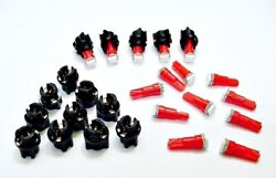 15 Red Ford Lights Bulbs LEDs 3/8