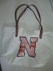 Old Navy cotton bag canvas shopper faux leather strap beach NEW