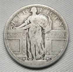1917-p Type 1 Standing Liberty Quarter Dollar Ag Coin Ae707