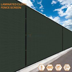 Custom 6ft Green Vinyl Coated Fence 100 Privacy Commercial Home Garden Screen