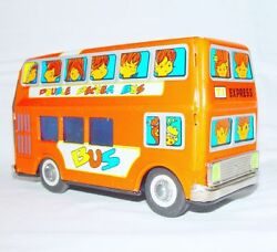 China Mf-291 Double Decker Passenger Bus Tin Friction Toy Car Nm`60 Top Rare