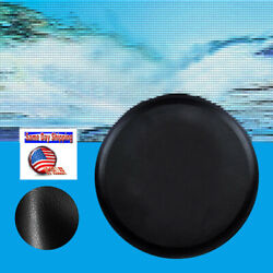 Leather Spare Tyre Tire Cover Genuine For 30x10 30 3/4x10 Inch Diameter Tire Blk
