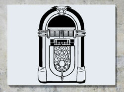 Jukebox Music Tunes Songs Play Sounds Wall Decal Art Sticker Picture
