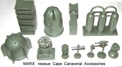 Marx Reissue Cape Canaveral Space Playset Accessories In Army Green