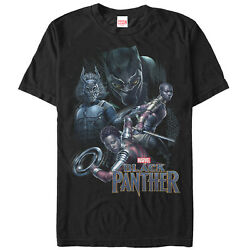Marvel Black Panther 2018 Character View Mens Graphic T Shirt