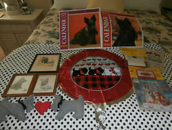 10PC SCOTTISH TERRIER~SCOTTIE DOG LOT~mostly VINTAGE
