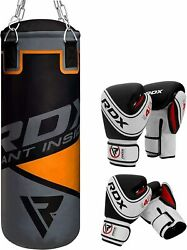 Rdx Leather Punching Bag Kids Boxing Heavy Kids Gloves Unfilled Punch Chain Os