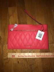 NWT Vera Bradley Genuine Leather Quilted Mia Wristlet! Canyon Sunset! WOW!