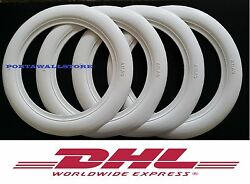 14and039and039x3 Wide Whitewall Port A Walls Tyre Insert Trim Set Of X4 Pcs Free Pp 108