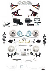 1964-72 GM A Body Front Rear Disc Brake Kit Coil Overs Control Arms Line Kit