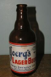 Rare Irtp Paper Label Yoergand039s Brewing Co St. Paul Mn Steinie Stubby Bottle