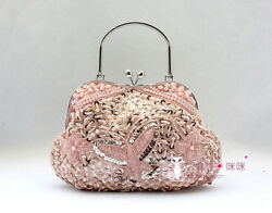 Luxury Crystals Beaded Wedding Party Clutch Bag Prom Evening Handbag For Women