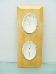 Bulova Clock with Thermometer amp; Hygrometer
