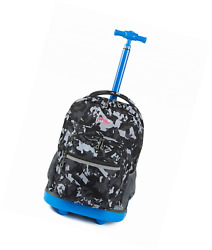 Choies Rolling Backpack Wheels girls boys for Students Kids to School Travel 19