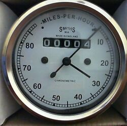 Speedometer Royal Enfield Motorcycle 0-80 Mph White