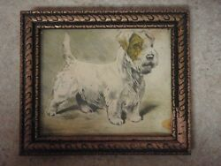 Vintage Scottie Dog Framed Sketch Picture by Marge 5