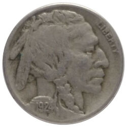 1924-s 5c Buffalo Nickel A0 - Very Tough Date And Mint With 2/3 Horn