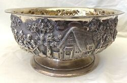 AN IMPORTANT PAUL STORR  ENGLISH CIRCA 1827 STERLING SILVER FIGURINE BOWL