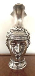 AN IMPORTANT FRENCH 18 CENTURY PARIS HEAD FIGURINE 950 SILVER PITCHER
