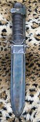 Vintage H.utica Us M3 Military Trench Fighting Knife Dagger Combat Blade
