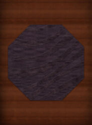 Purple Transitional Hand Hooked Swirls Stripes Lines Area Rug Abstract Dv12