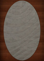 Gray Waves Swirls Stripes Lines Transitional Area Rug Abstract Dv12