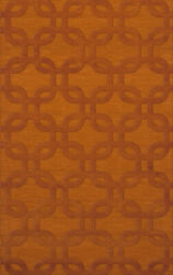 Orange Rectangles Loops Rounded Squares Transitional Area Rug Geometric Dv7