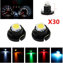30pc T4T4.2 Neo Wedge 1-SMD Cluster Instrument Dash Climate Control Light Bulbs