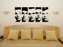 One Direction Faces Kids Children's Bedroom Decal Wall Art Sticker Picture