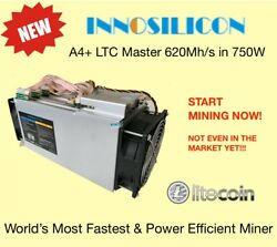 Innosilicon A4+ LTC Master ASIC Scrypt Miner620Mhs750W (local CA) IN STOCK