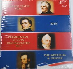 2010 P And D Presidential 1 Uncirculated 8 Coin Set Original Government Packaging