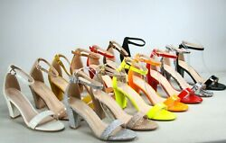 NEW Women's Color Ankle Strap Evening Dress  High Heel Sandal Shoes Size 5 - 10 $24.99