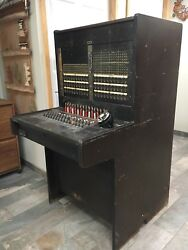 Vintage Antique TELEPHONE SWITCHBOARD Western Electric Bell System 30 Line Board
